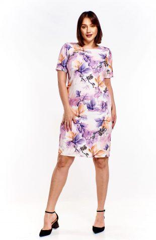 Sukienka ołówkowa plus size w kwiaty