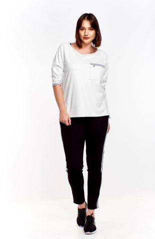 Bluza oversize bawełniana biała