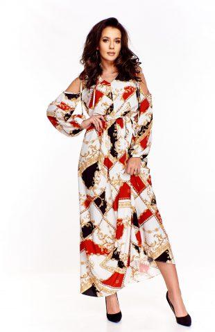 Sukienka maxi z wyciętymi ramionami