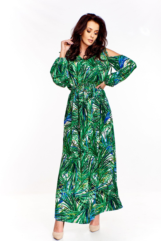 7d175c8a Sukienka maxi z wyciętymi ramionami