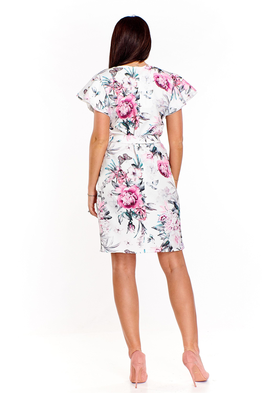 f29c87c33a Elegancka sukienka w kwiaty - szyta w Polsce - kurier już od 5