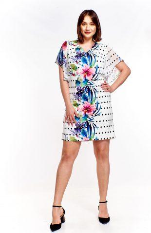 Sukienka ołówkowa we wzory
