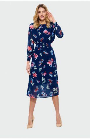 Sukienka midi w kwiaty