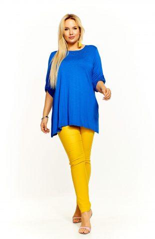 Bluzka damska oversize niebieska
