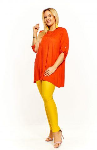Bluzka damska oversize pomarańczowa