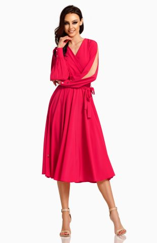Sukienka kopertowa midi elegancka