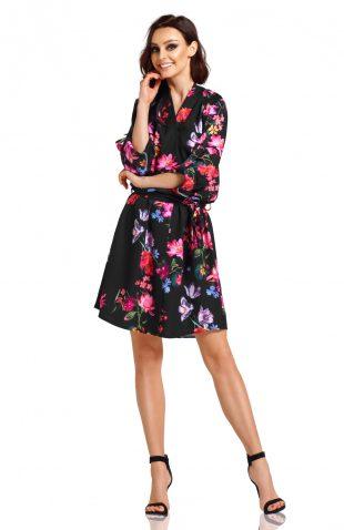 Sukienka kopertowa elegancka do kolan