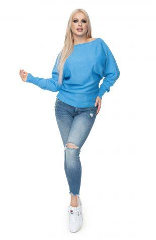 Sweter kimonowy niebieski