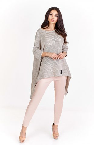 Sweter oversize asymetryczny