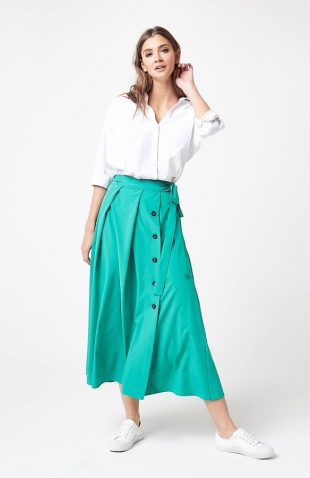 Długa elegancka spódnica zielona