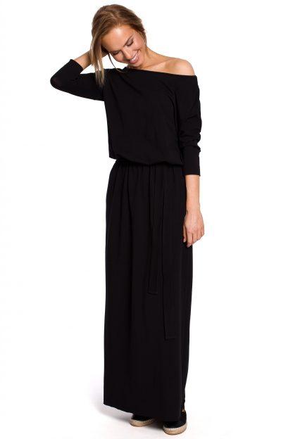 Sukienka bawełniana do kostek czarna