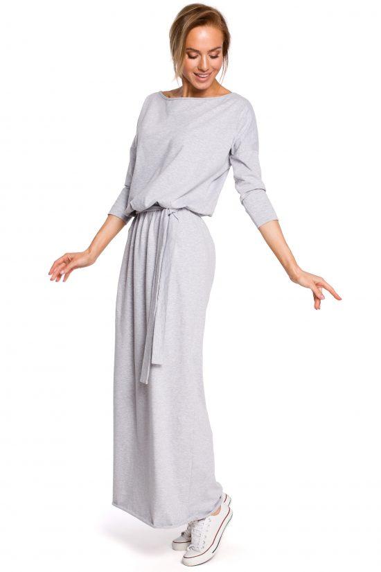 Sukienka bawełniana do kostek szara