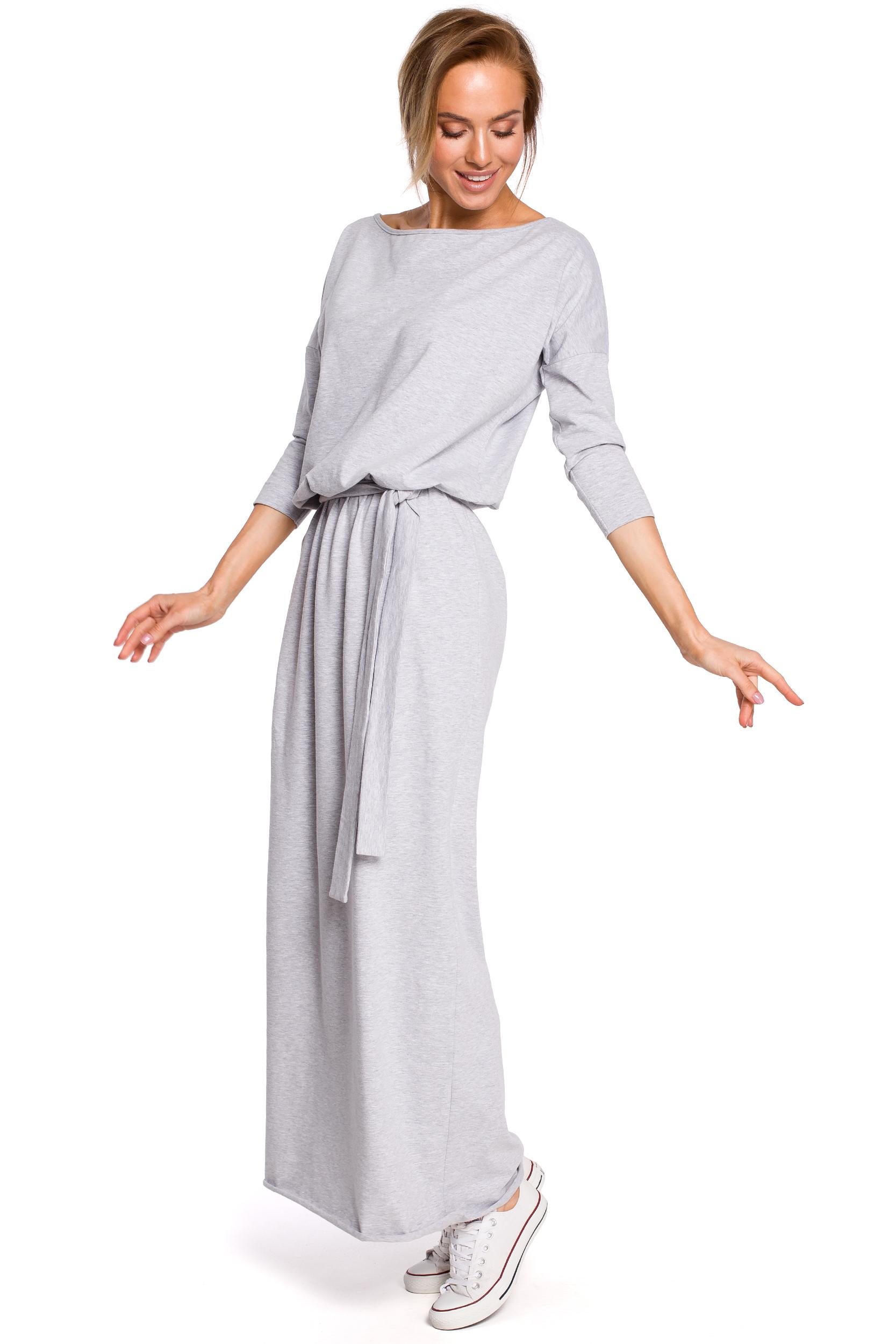 369fff167e Sukienka bawełniana do kostek szara - szyta w Polsce - kurier od 5