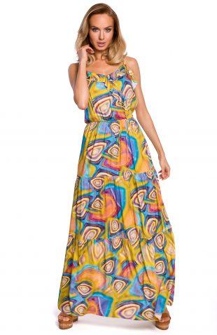 Sukienka maxi boho na ramiączka