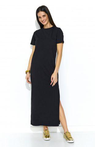 Sukienka dresowa do kostek czarna