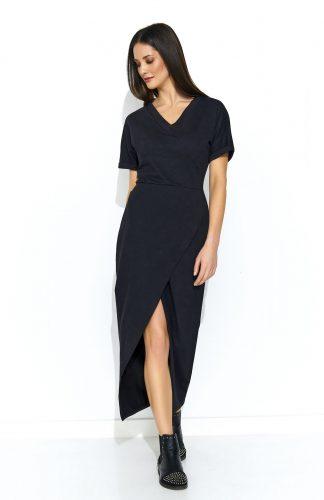 Sukienka dresowa maxi czarna