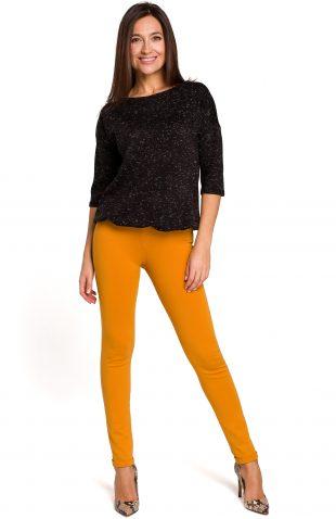 Sweter z dekoltem na plecach czarny