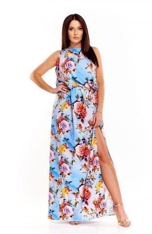 Sukienka wizytowa do kostek w kwiaty