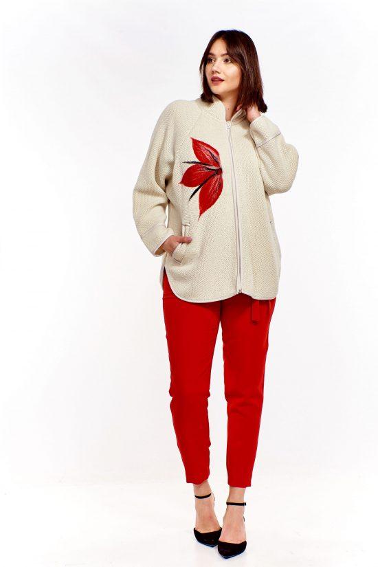 Elegancki sweter zapinany na suwak