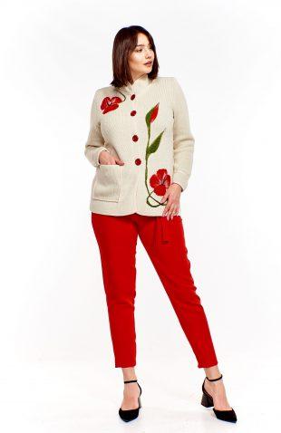 Elegancki sweter na guziki