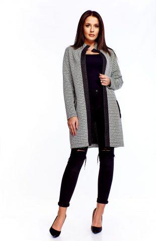 Płaszcz swetrowy długi
