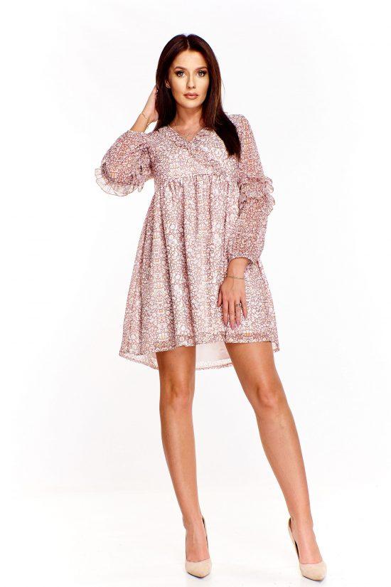 Sukienka odcinana pod biustem we wzory