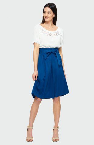 Spódnica rozkloszowana niebieska