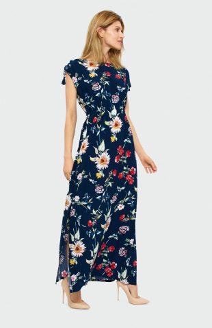 Sukienka do kostek w kwiatki