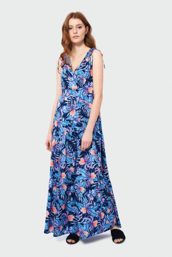 Sukienka do kostek na lato w kwiaty