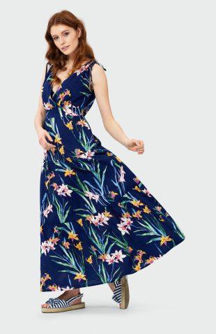 Sukienka na lato maxi w kwiaty