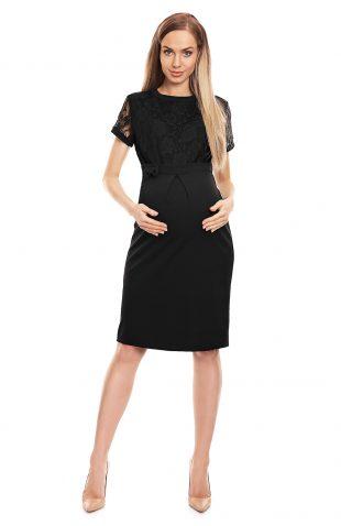 Sukienka ciążowa wizytowa czarna