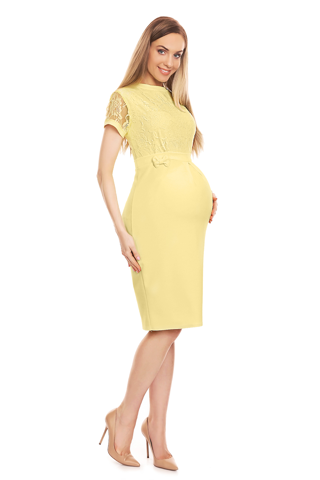 2903ae4bb7 Sukienka ciążowa wizytowa żółta - szyta w Polsce - kurier od 5