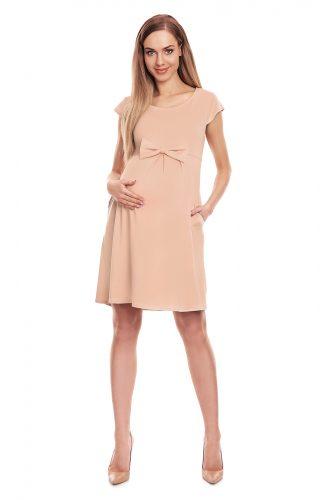 Sukienka ciążowa na lato beżowa
