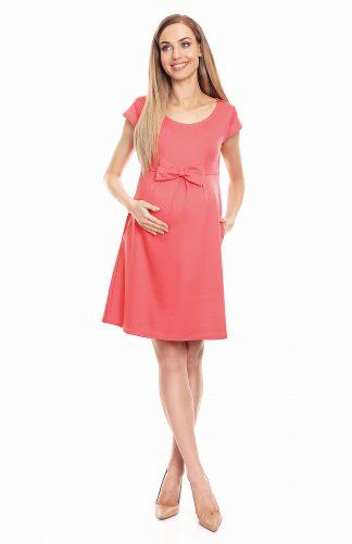 Sukienka ciążowa na lato koral
