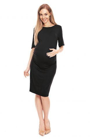 Sukienka ciążowa dopasowana czarna
