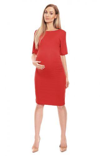 Sukienka ciążowa dopasowana czerwona