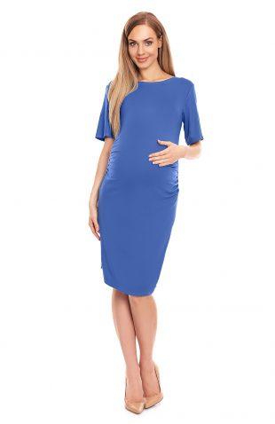 Sukienka ciążowa dopasowana niebieska