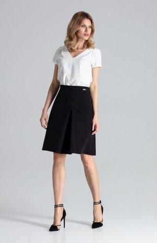 Spódnica rozkloszowana elegancka czarna
