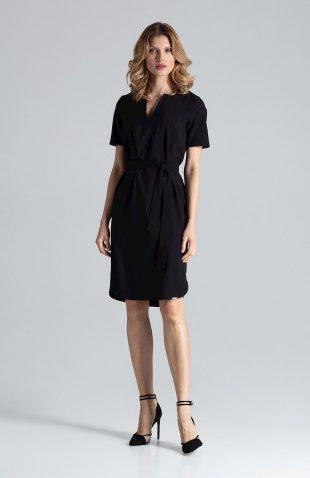 Sukienka ołówkowa do biura czarna