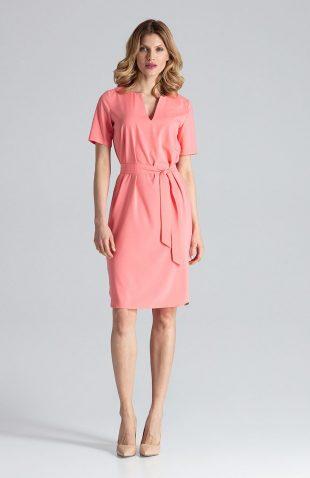 Sukienka ołówkowa do biura koral