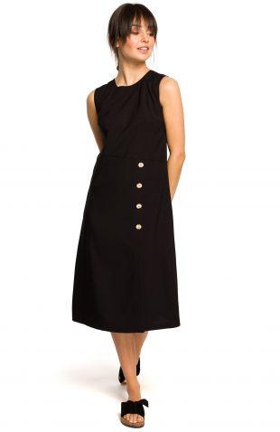 Sukienka midi na lato czarna