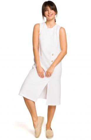 Sukienka midi na lato biała