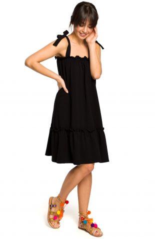 Sukienka na ramiączka na lato czarna