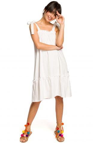 Sukienka na ramiączka na lato ecru