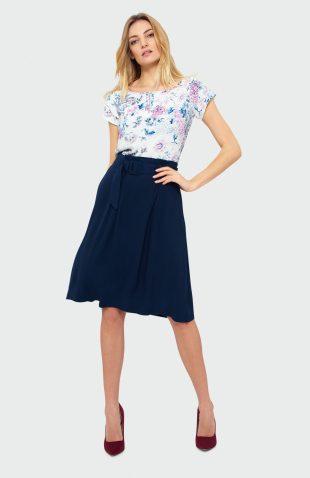 Elegancka spódnica midi plisowana