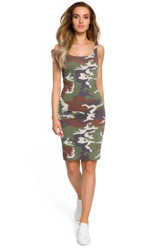 Sukienka dopasowana militarna khaki