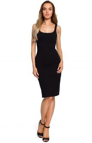 Sukienka dopasowana na ramiączka czarna
