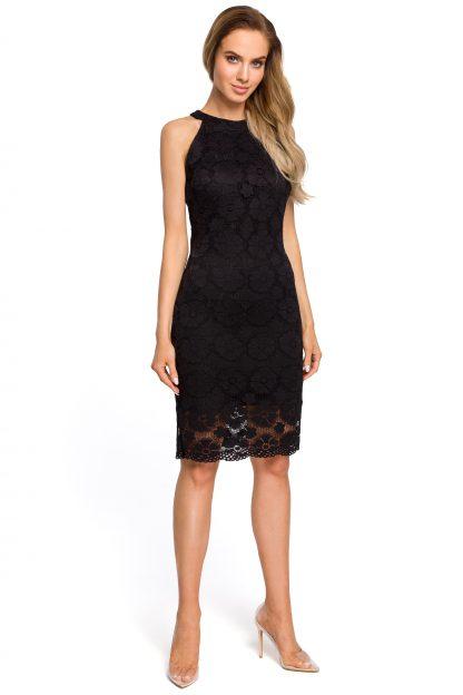 Sukienka ołówkowa z koronki czarna