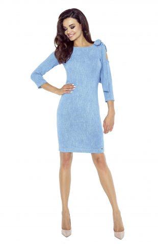 Sukienka ołówkowa z wycięciem na ramieniu