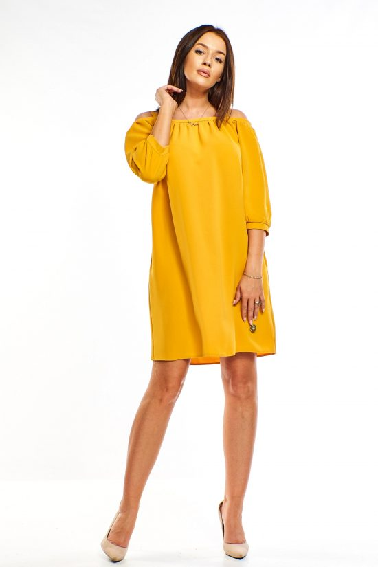 Sukienka hiszpanka o luźnym kroju